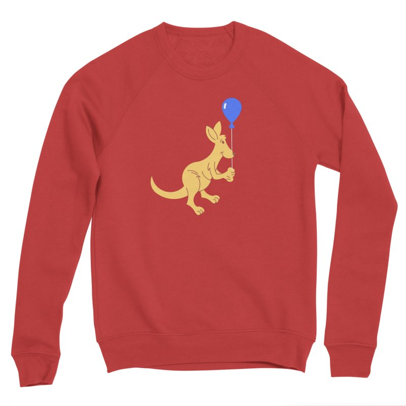 Kangaroo with a Balloon Women's Sponge Fleece Sweatshirt by Eddie Fieg Graphic Design and Illustration