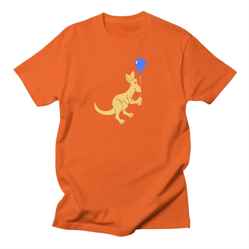 Kangaroo with a Balloon Men's T-Shirt by Eddie Fieg Graphic Design and Illustration