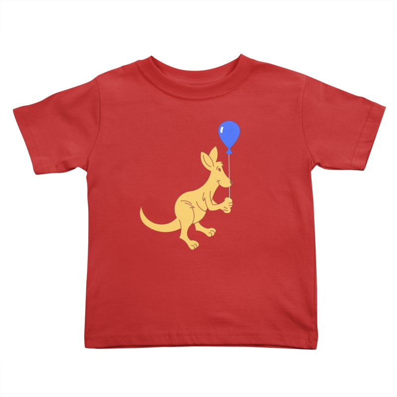 Kangaroo with a Balloon Kids Toddler T-Shirt by Eddie Fieg Graphic Design and Illustration