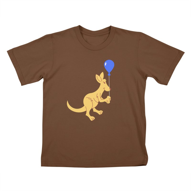 Kangaroo with a Balloon Kids T-Shirt by Eddie Fieg Graphic Design and Illustration