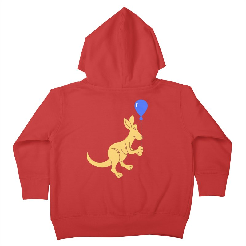 Kangaroo with a Balloon Kids Toddler Zip-Up Hoody by Eddie Fieg Graphic Design and Illustration