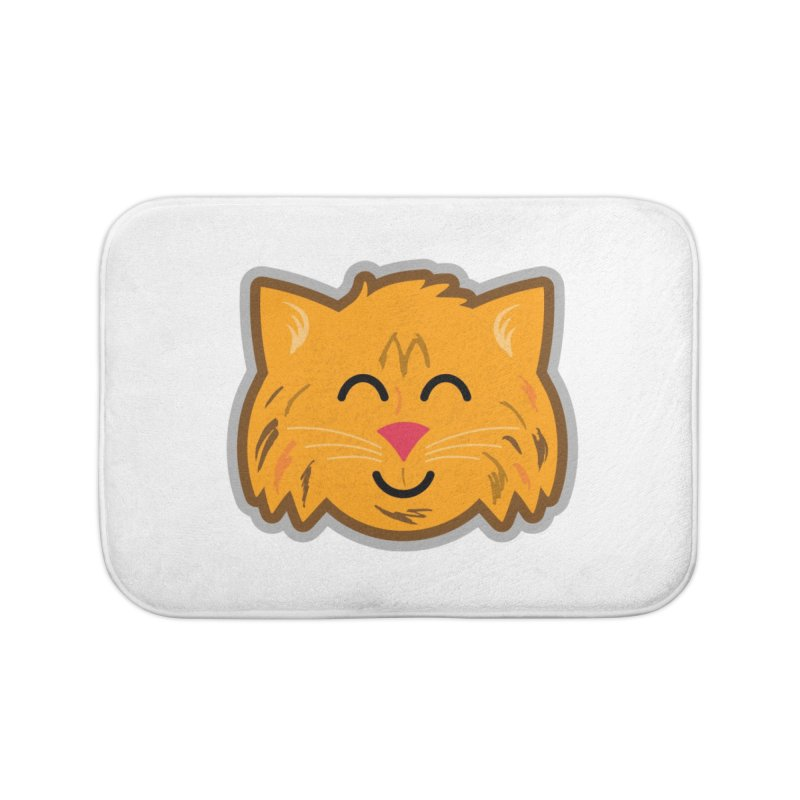 Maine Coon Cat Home Bath Mat by Eddie Fieg Graphic Design and Illustration