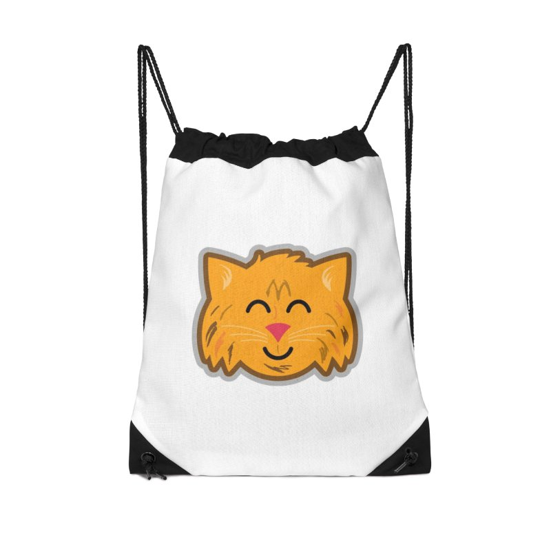 Maine Coon Cat Accessories Drawstring Bag Bag by Eddie Fieg Graphic Design and Illustration
