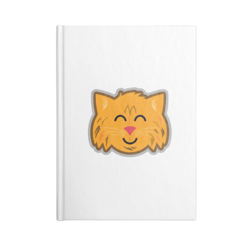 Maine Coon Cat Accessories Lined Journal Notebook by Eddie Fieg Graphic Design and Illustration