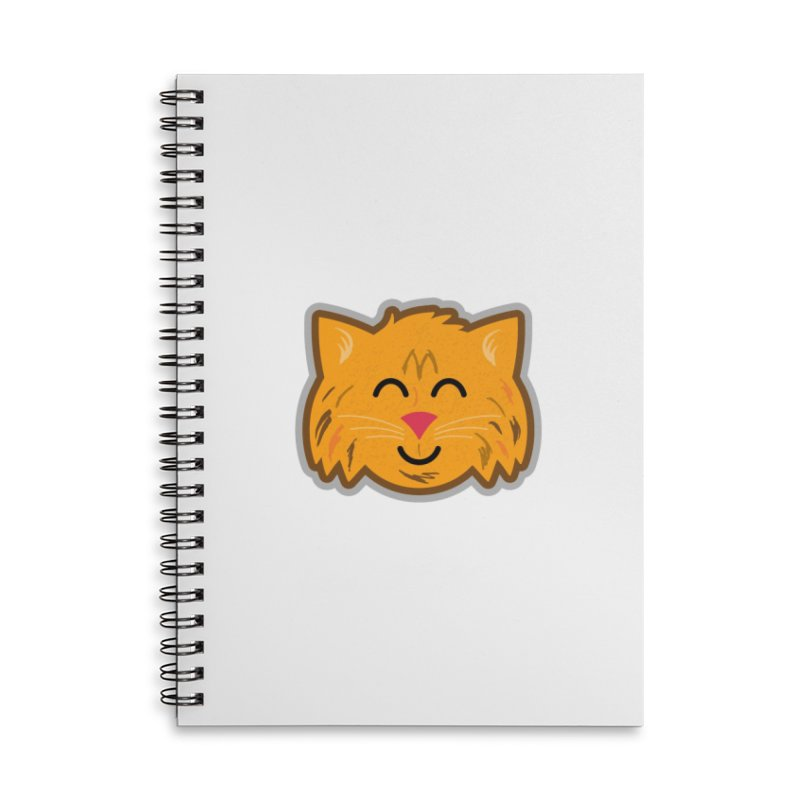 Maine Coon Cat Accessories Lined Spiral Notebook by Eddie Fieg Graphic Design and Illustration
