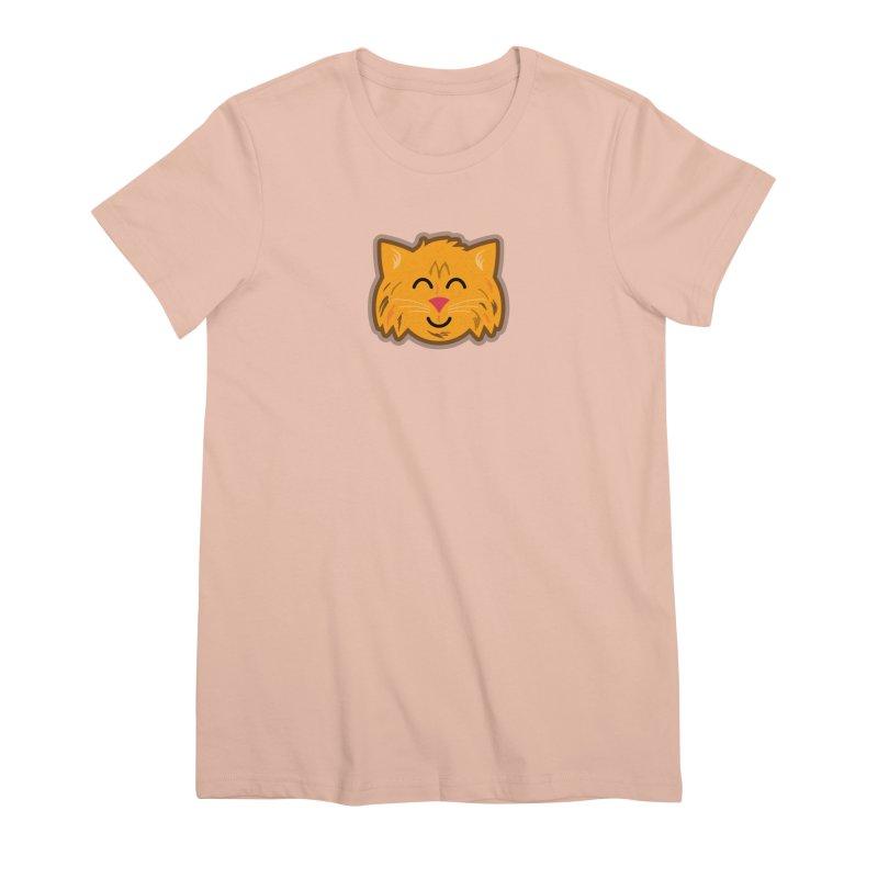 Maine Coon Cat Women's Premium T-Shirt by Eddie Fieg Graphic Design and Illustration