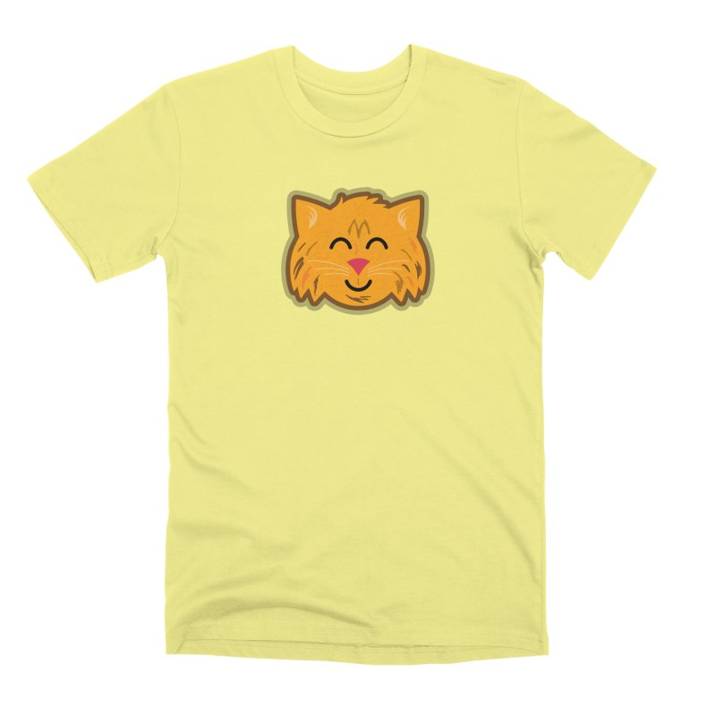 Maine Coon Cat Men's Premium T-Shirt by Eddie Fieg Graphic Design and Illustration