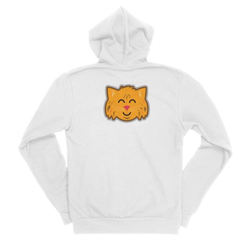 Maine Coon Cat Men's Sponge Fleece Zip-Up Hoody by Eddie Fieg Graphic Design and Illustration