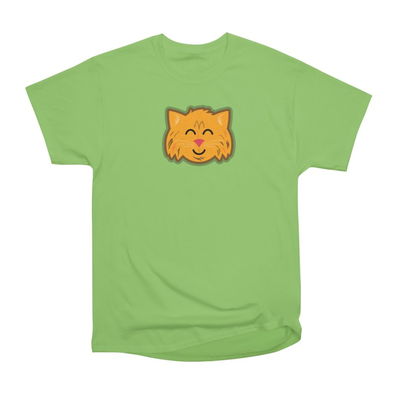 Maine Coon Cat Women's Heavyweight Unisex T-Shirt by Eddie Fieg Graphic Design and Illustration