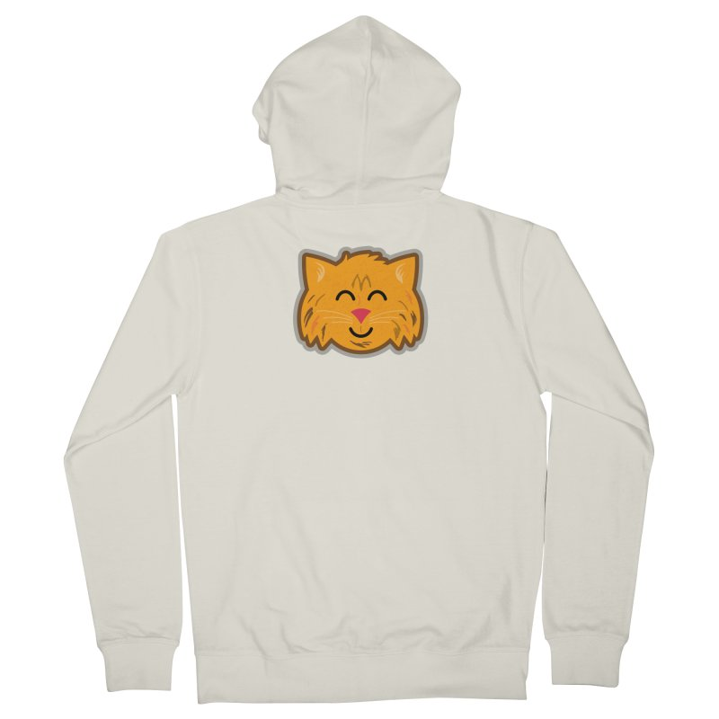Maine Coon Cat Women's French Terry Zip-Up Hoody by Eddie Fieg Graphic Design and Illustration