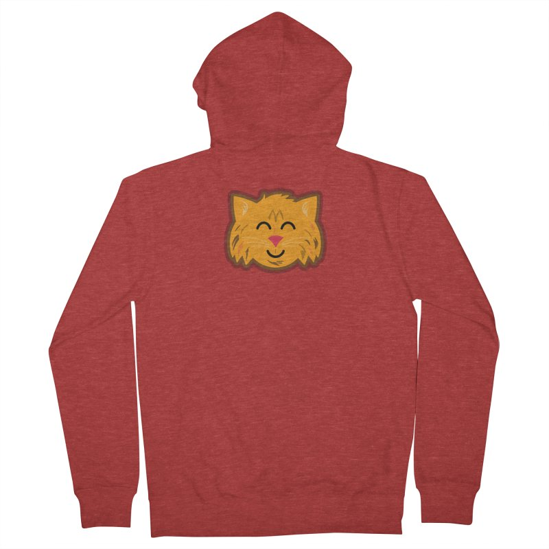 Maine Coon Cat Men's French Terry Zip-Up Hoody by Eddie Fieg Graphic Design and Illustration