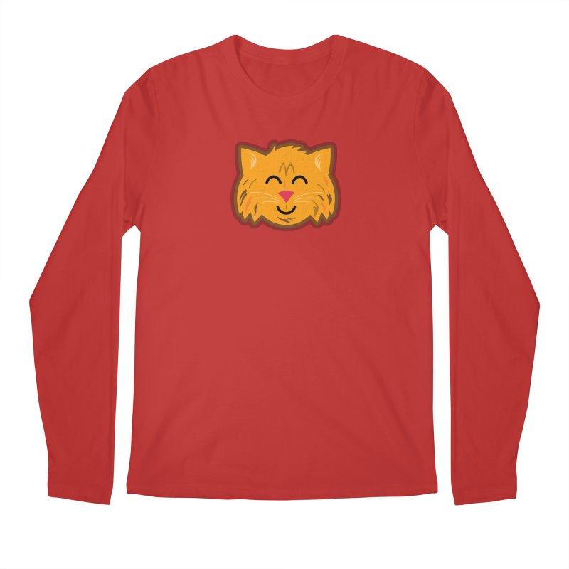 Maine Coon Cat Men's Regular Longsleeve T-Shirt by Eddie Fieg Graphic Design and Illustration