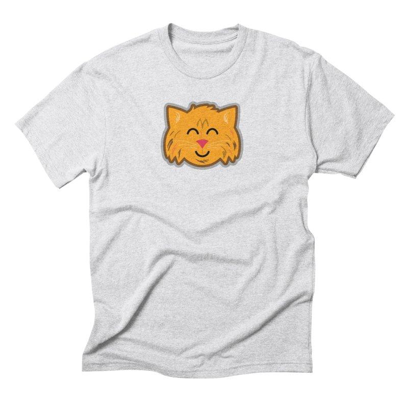 Maine Coon Cat Men's Triblend T-Shirt by Eddie Fieg Graphic Design and Illustration