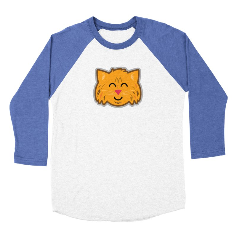 Maine Coon Cat Women's Baseball Triblend Longsleeve T-Shirt by Eddie Fieg Graphic Design and Illustration