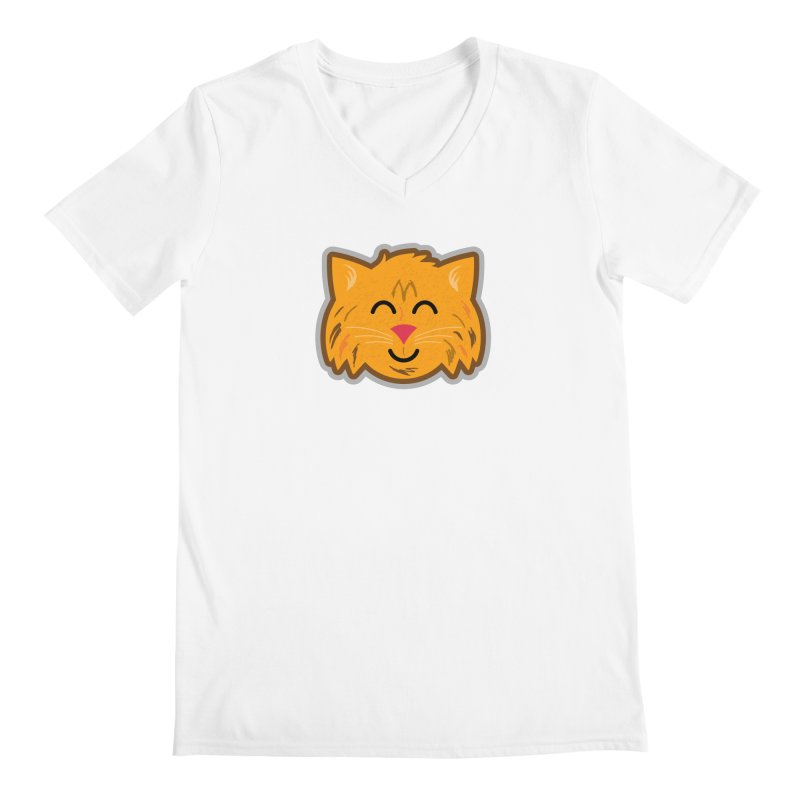 Maine Coon Cat Men's Regular V-Neck by Eddie Fieg Graphic Design and Illustration