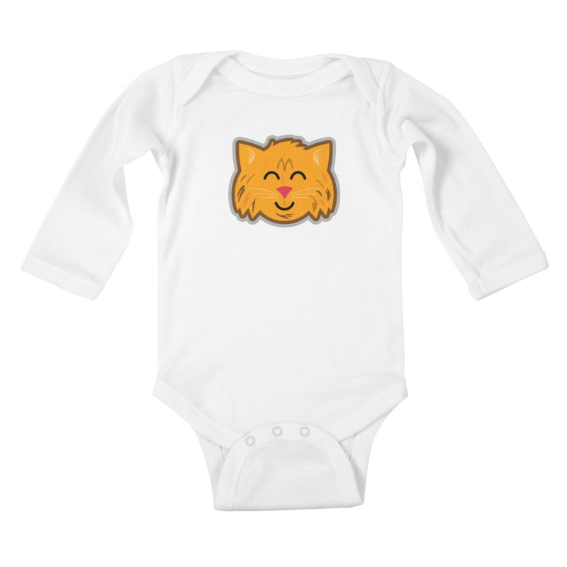 Maine Coon Cat Kids Baby Longsleeve Bodysuit by Eddie Fieg Graphic Design and Illustration