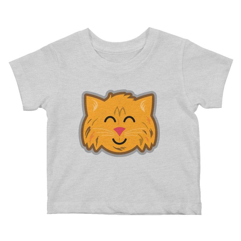 Maine Coon Cat Kids Baby T-Shirt by Eddie Fieg Graphic Design and Illustration