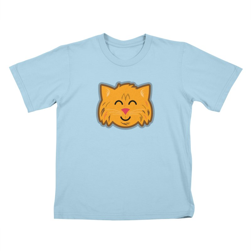 Maine Coon Cat Kids T-Shirt by Eddie Fieg Graphic Design and Illustration