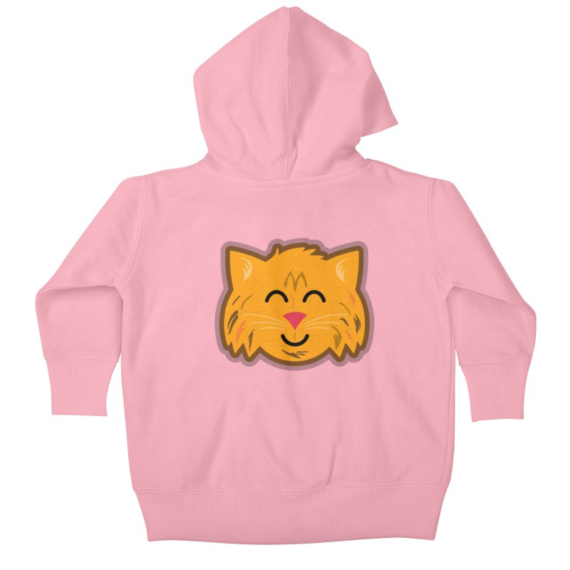 Maine Coon Cat Kids Baby Zip-Up Hoody by Eddie Fieg Graphic Design and Illustration