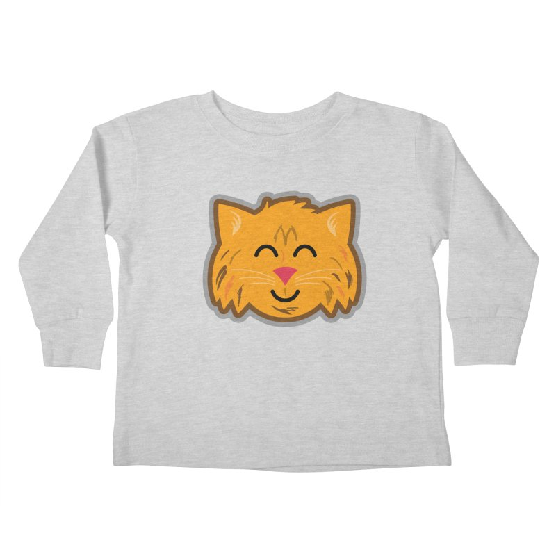 Maine Coon Cat Kids Toddler Longsleeve T-Shirt by Eddie Fieg Graphic Design and Illustration