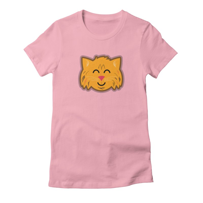 Maine Coon Cat Women's Fitted T-Shirt by Eddie Fieg Graphic Design and Illustration