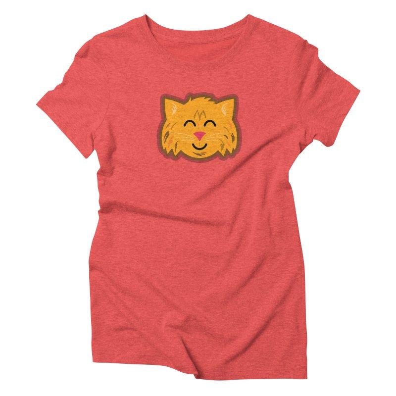 Maine Coon Cat Women's Triblend T-Shirt by Eddie Fieg Graphic Design and Illustration
