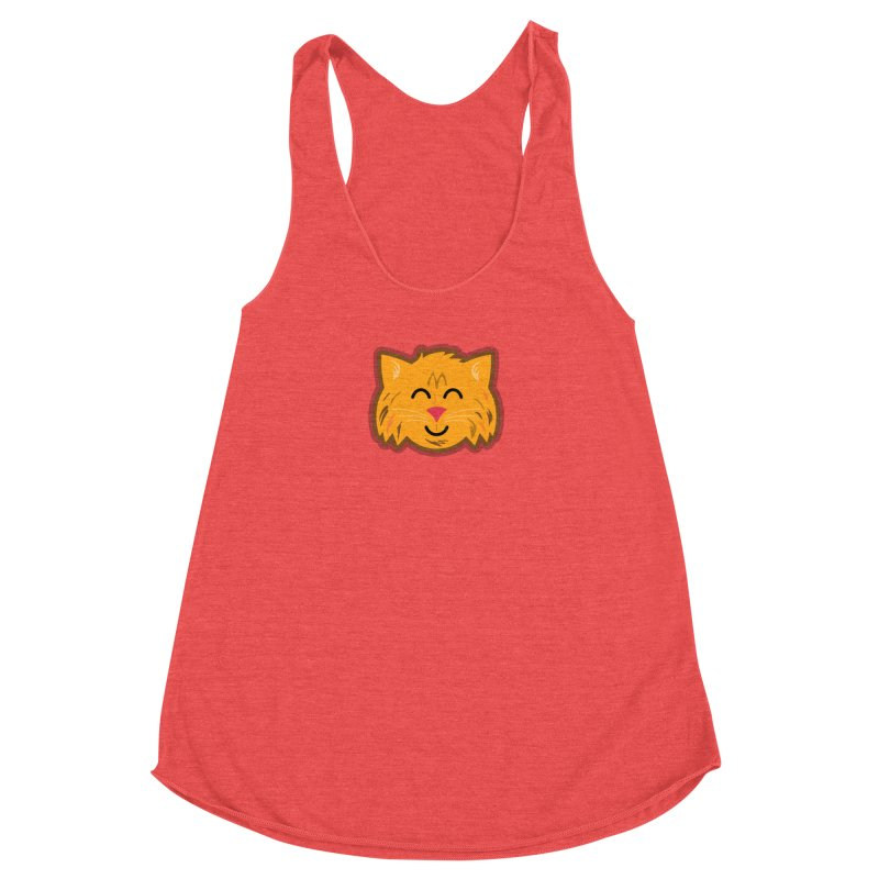 Maine Coon Cat Women's Racerback Triblend Tank by Eddie Fieg Graphic Design and Illustration