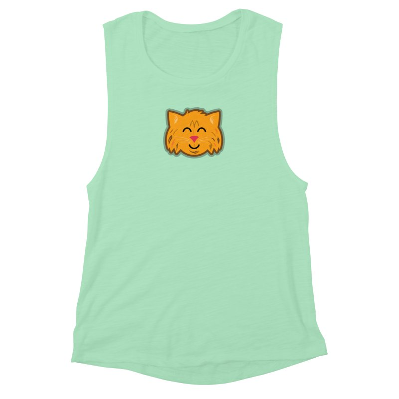 Maine Coon Cat Women's Muscle Tank by Eddie Fieg Graphic Design and Illustration