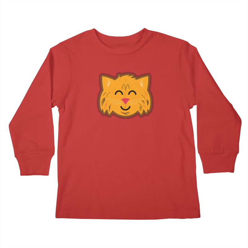 Maine Coon Cat Kids Longsleeve T-Shirt by Eddie Fieg Graphic Design and Illustration