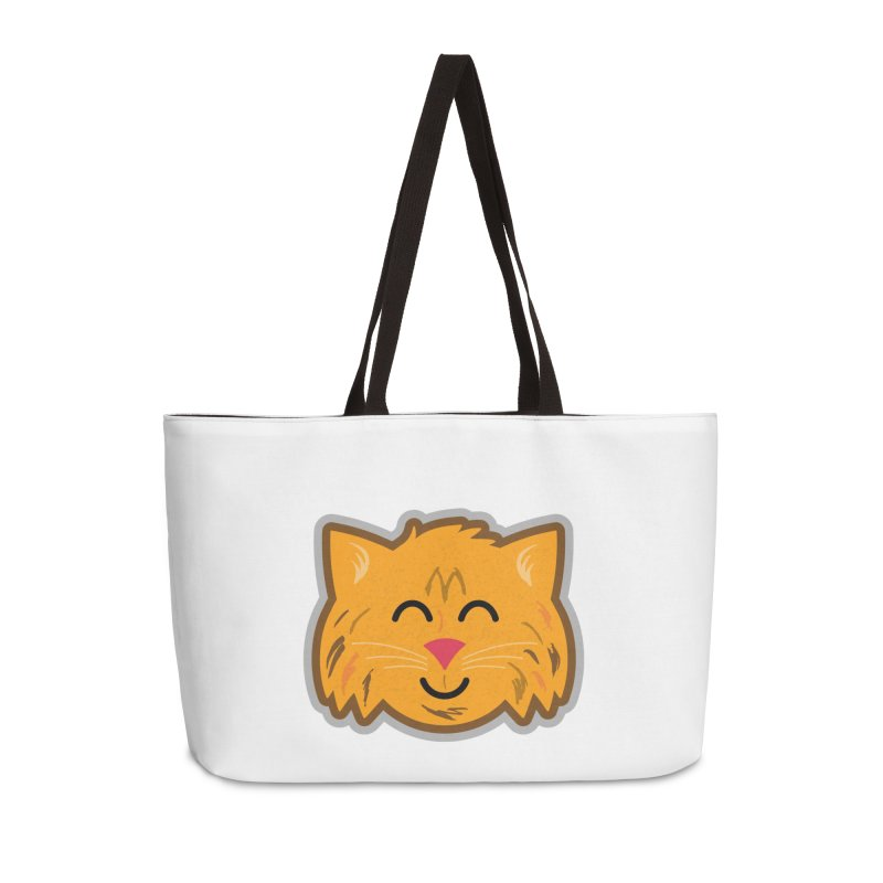 Maine Coon Cat Accessories Weekender Bag Bag by Eddie Fieg Graphic Design and Illustration
