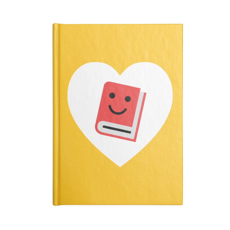 I Heart Books Accessories Lined Journal Notebook by Eddie Fieg Graphic Design and Illustration