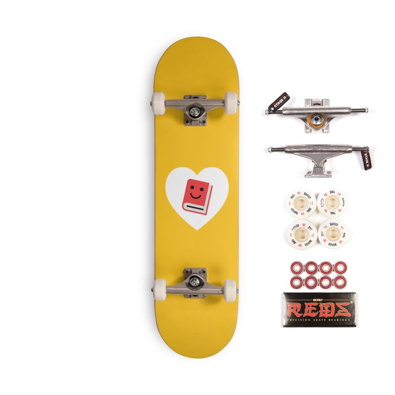 I Heart Books Accessories Complete - Pro Skateboard by Eddie Fieg Graphic Design and Illustration