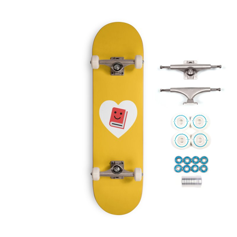 I Heart Books Accessories Complete - Basic Skateboard by Eddie Fieg Graphic Design and Illustration