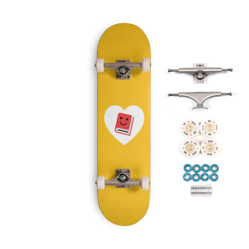 I Heart Books Accessories Complete - Premium Skateboard by Eddie Fieg Graphic Design and Illustration