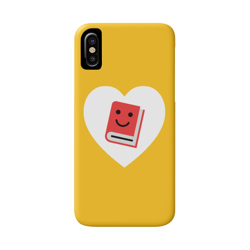 I Heart Books Accessories Phone Case by Eddie Fieg Graphic Design and Illustration