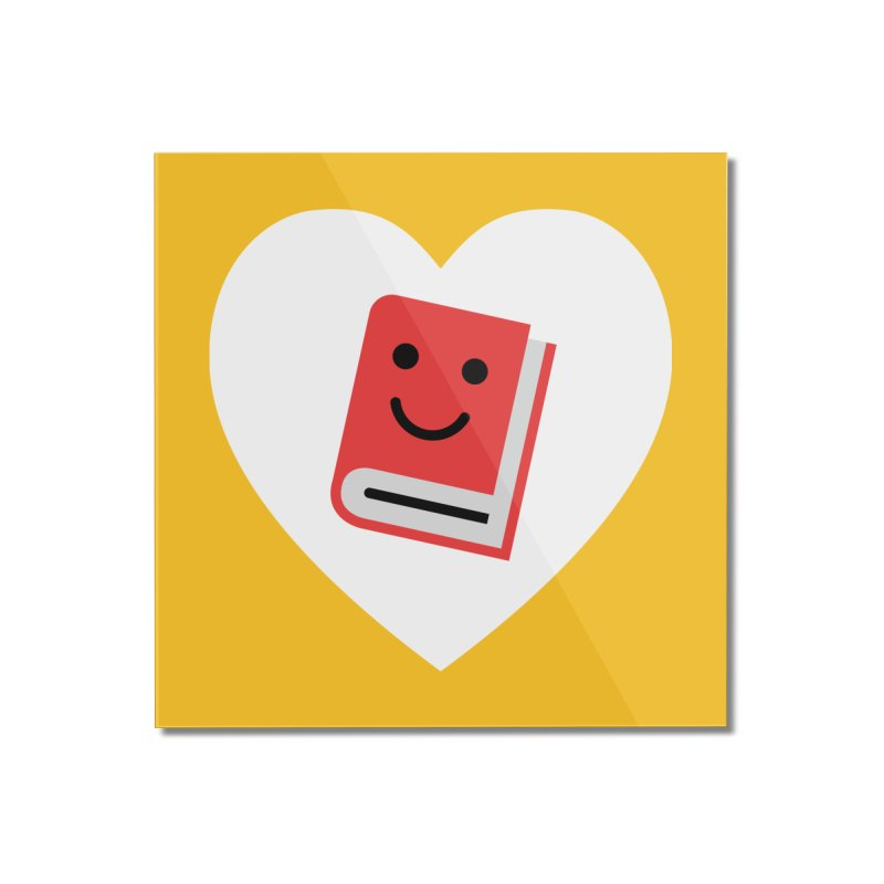 I Heart Books Home Mounted Acrylic Print by Eddie Fieg Graphic Design and Illustration