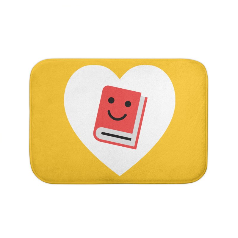 I Heart Books Home Bath Mat by Eddie Fieg Graphic Design and Illustration