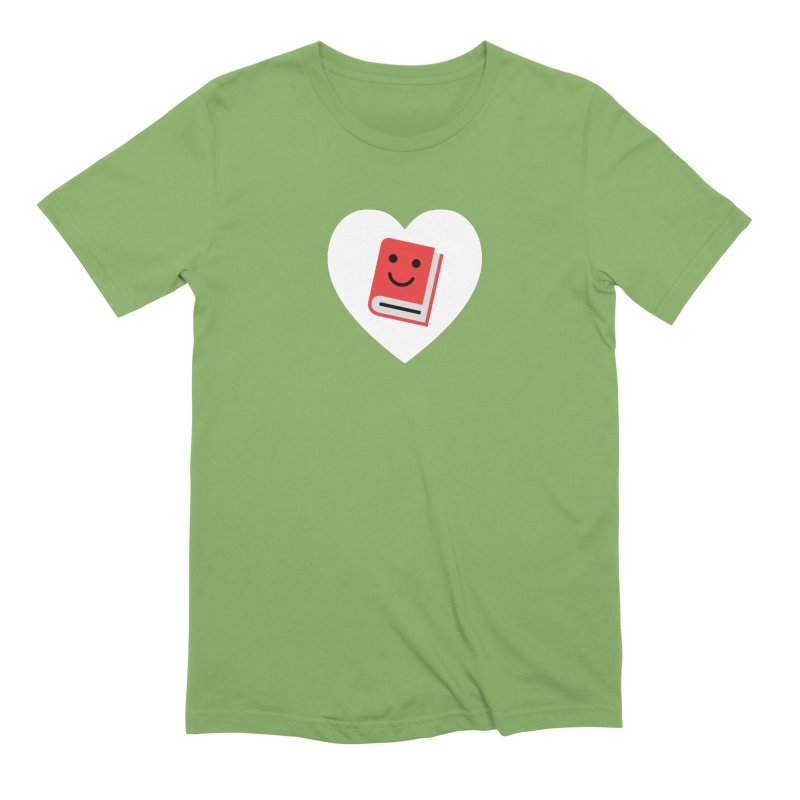 I Heart Books Men's Extra Soft T-Shirt by Eddie Fieg Graphic Design and Illustration