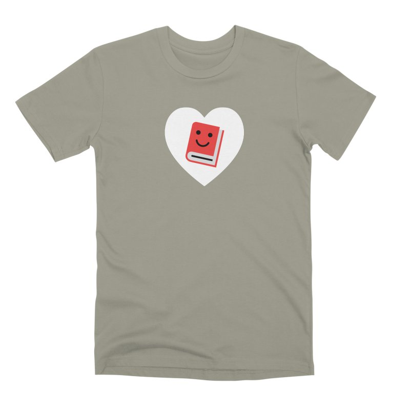 I Heart Books Men's Premium T-Shirt by Eddie Fieg Graphic Design and Illustration