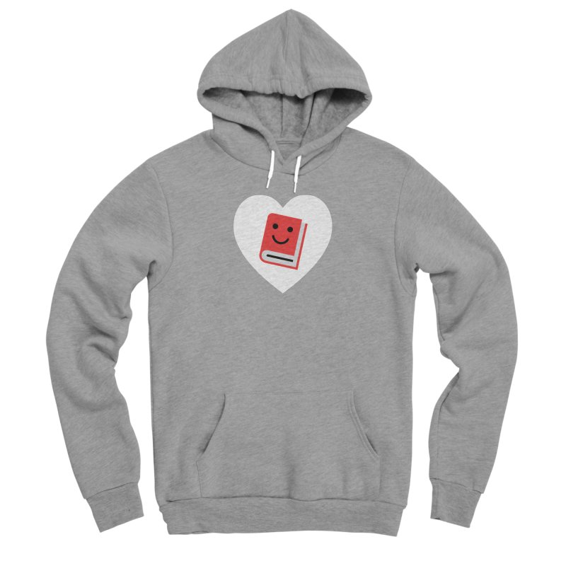 I Heart Books Men's Sponge Fleece Pullover Hoody by Eddie Fieg Graphic Design and Illustration