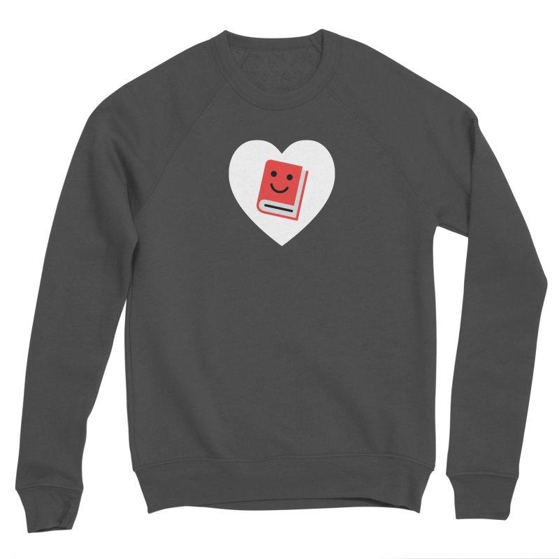 I Heart Books Men's Sponge Fleece Sweatshirt by Eddie Fieg Graphic Design and Illustration