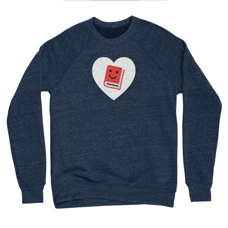 I Heart Books Women's Sponge Fleece Sweatshirt by Eddie Fieg Graphic Design and Illustration