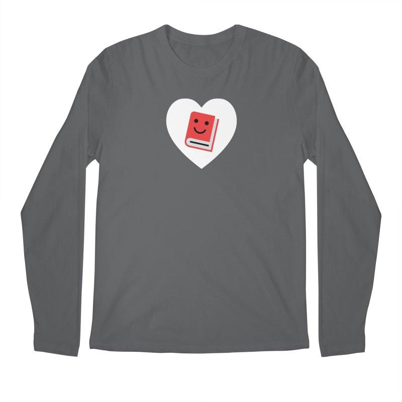 I Heart Books Men's Longsleeve T-Shirt by Eddie Fieg Graphic Design and Illustration
