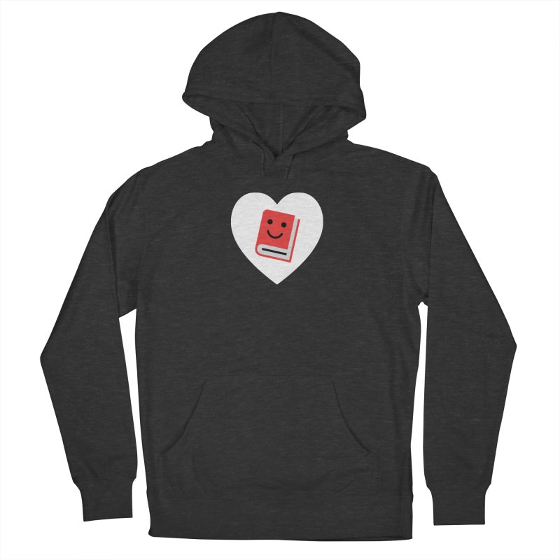I Heart Books Women's French Terry Pullover Hoody by Eddie Fieg Graphic Design and Illustration