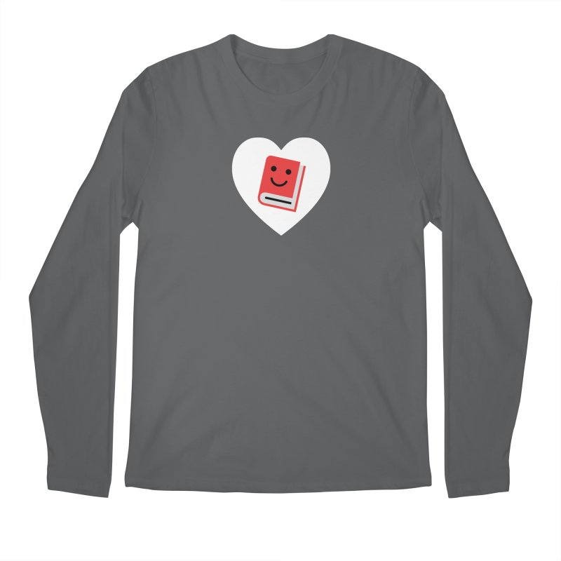 I Heart Books Men's Longsleeve T-Shirt by Eddie Fieg Graphic Design and Illustration