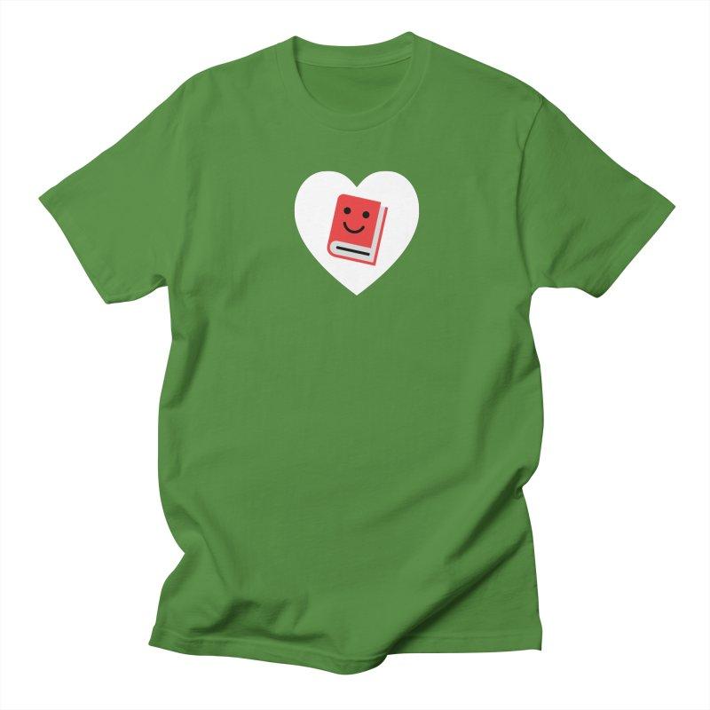 I Heart Books Women's Regular Unisex T-Shirt by Eddie Fieg Graphic Design and Illustration