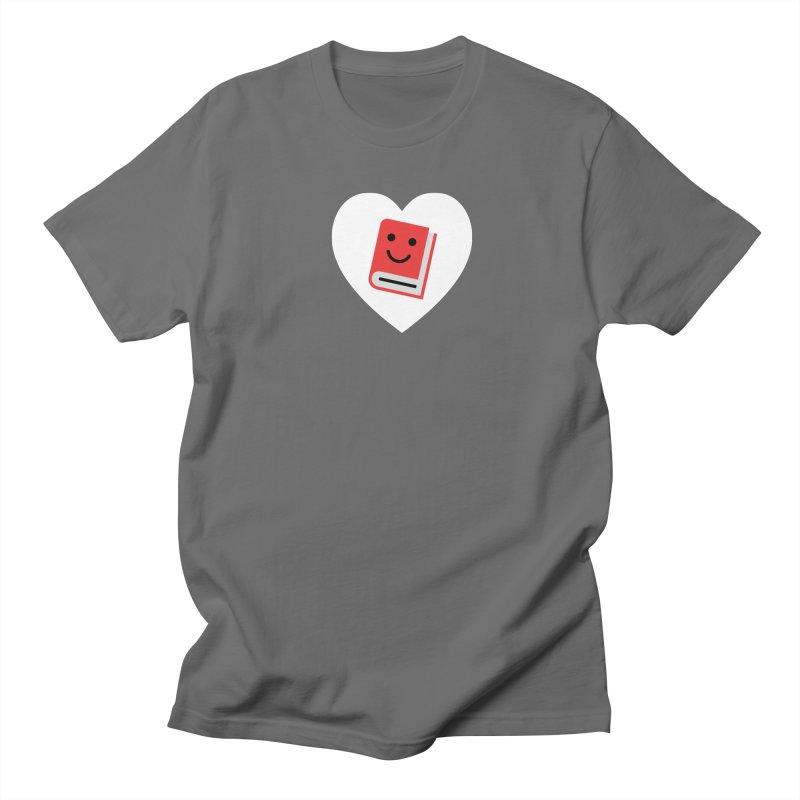 I Heart Books Men's T-Shirt by Eddie Fieg Graphic Design and Illustration