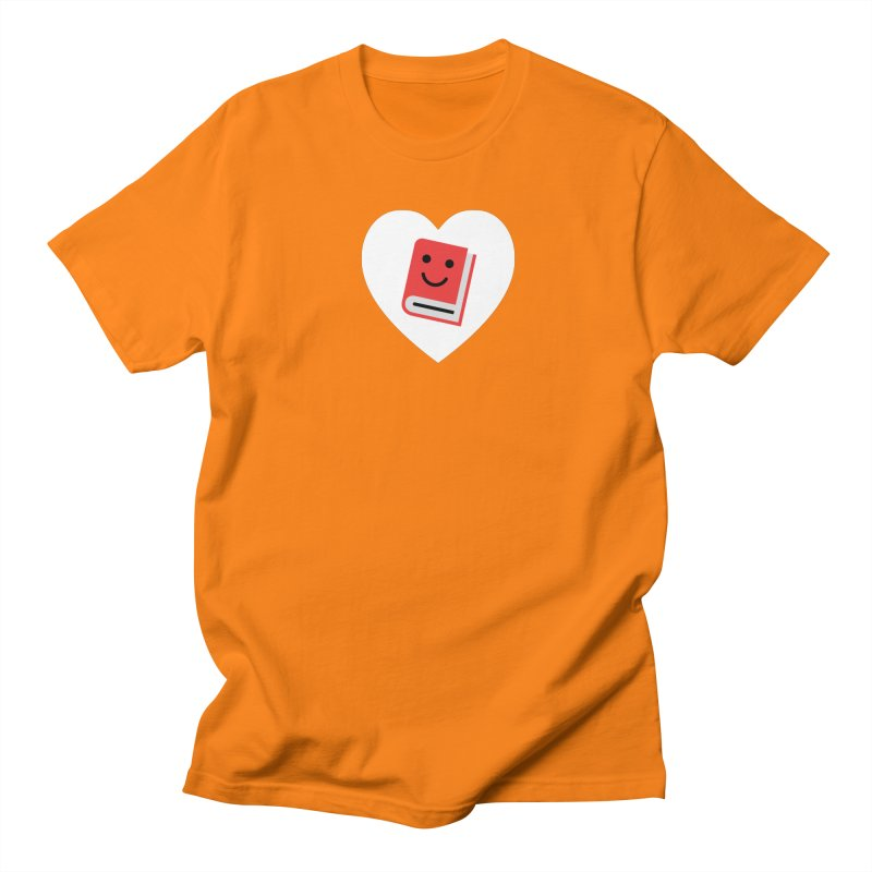 I Heart Books Men's Regular T-Shirt by Eddie Fieg Graphic Design and Illustration