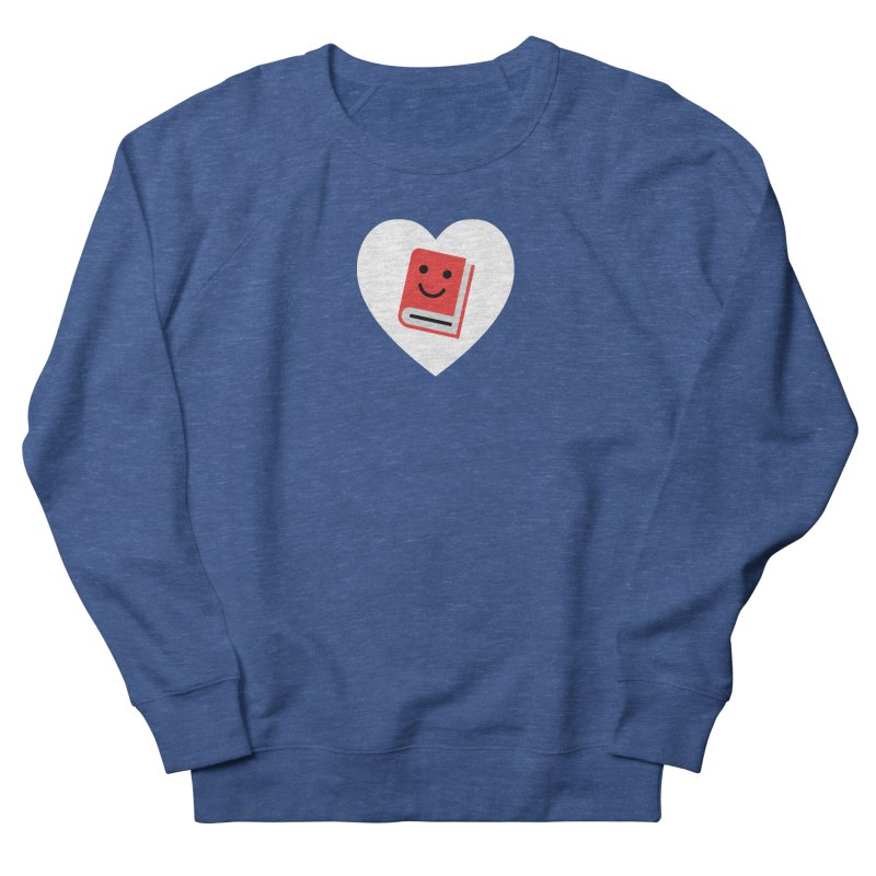I Heart Books Men's French Terry Sweatshirt by Eddie Fieg Graphic Design and Illustration