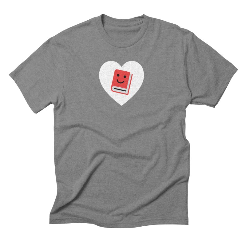 I Heart Books Men's Triblend T-Shirt by Eddie Fieg Graphic Design and Illustration